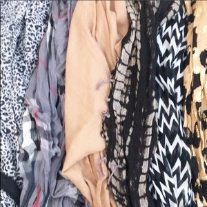 LOT 6 Infinity Scarves - Charming Charlie & more!